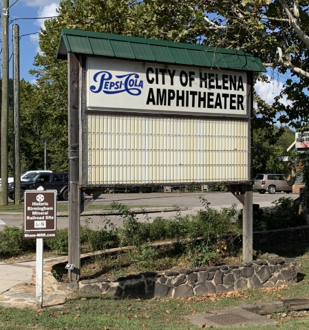 Helena Amphitheater Sign